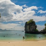Hong Island, uma praia bem básica