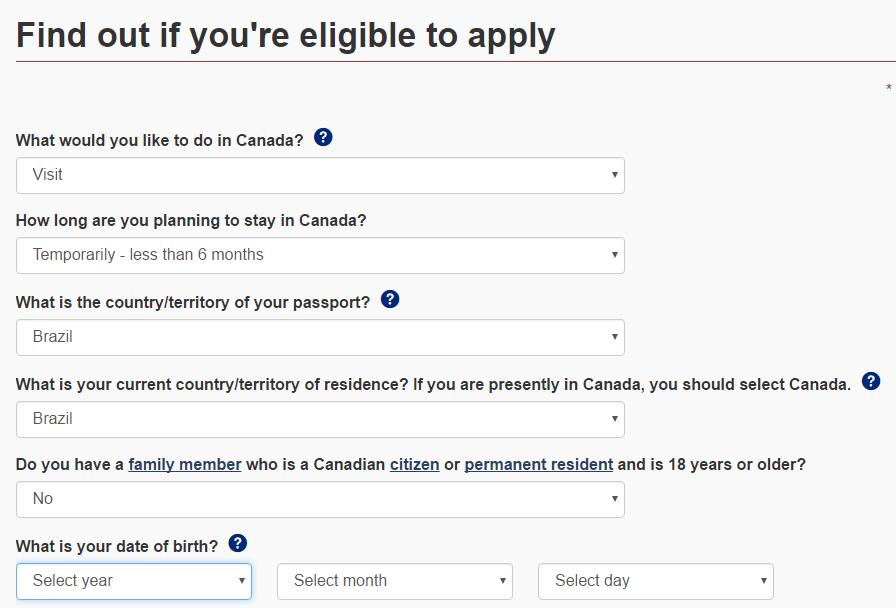 Como tirar visto Canadá
