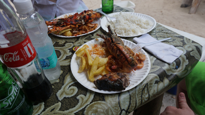 Blue Safari - lunch