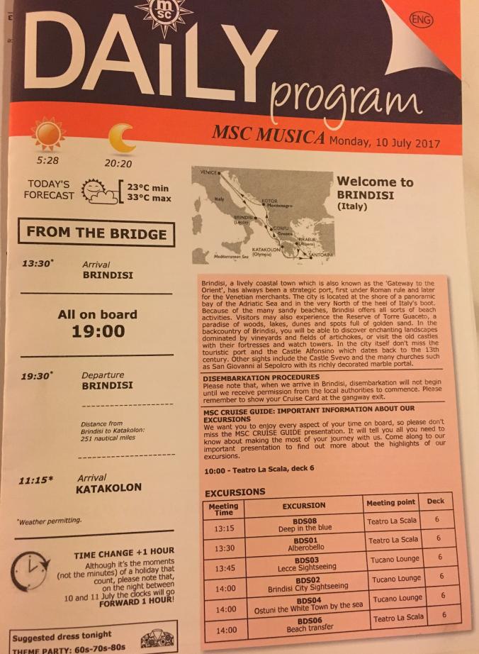 Brindisi - program