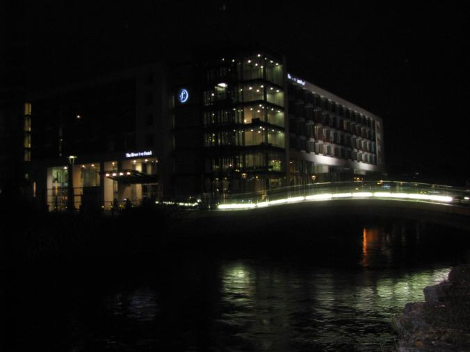 Cork - Lee river by night