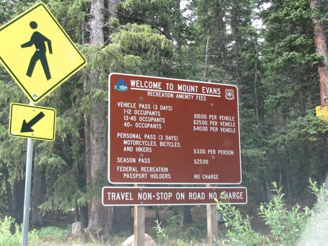Denver - mount evans entrance