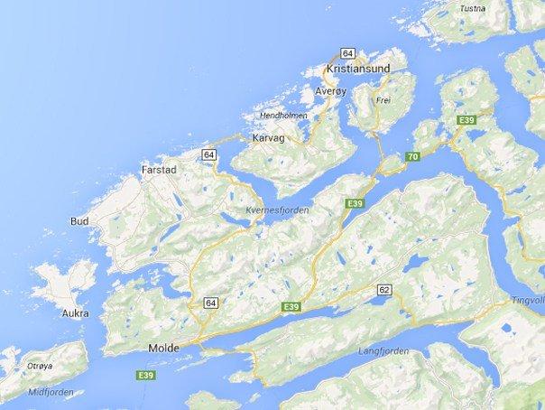 Drumul Atlanticului - map