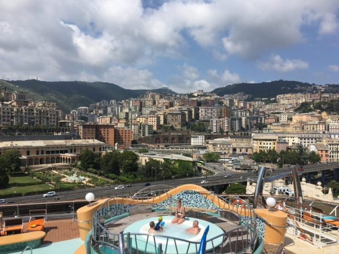 Genova - port view