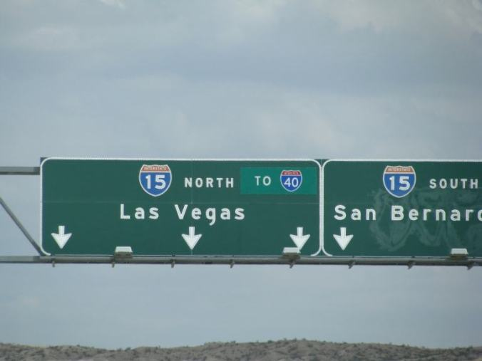 Las Vegas - road sign