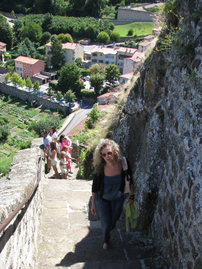 Lyon - puy en velay stairs