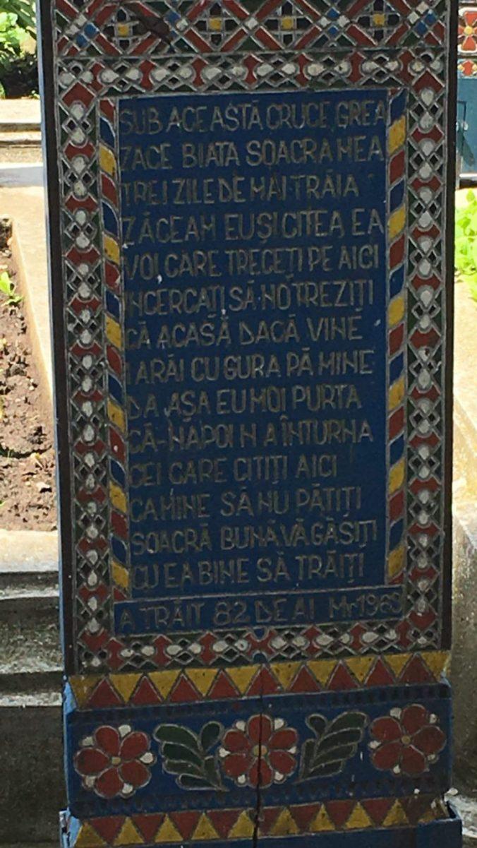 Maramures - cimitirul vesel sapanta cross
