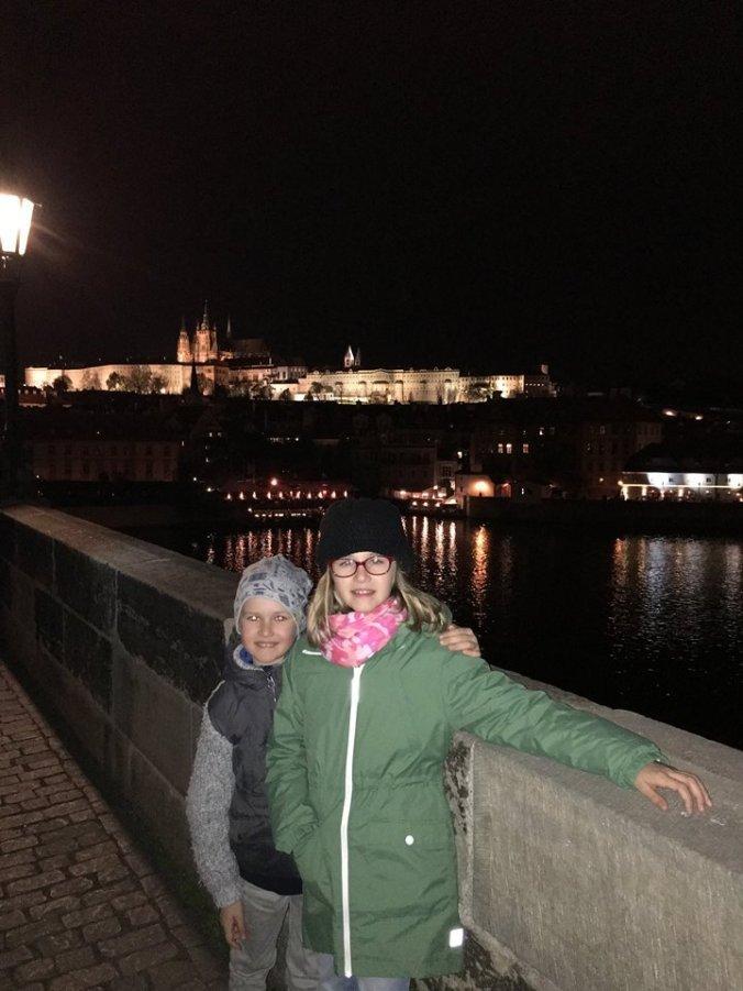 Praga - carol bridge by night