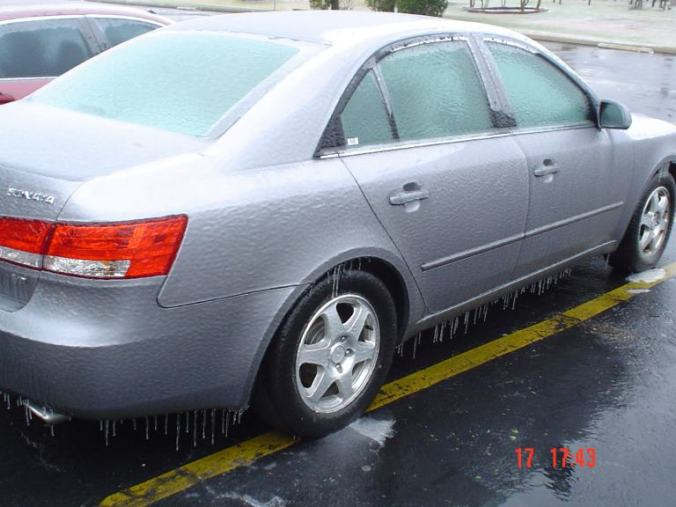 Texas - cars after ice storm