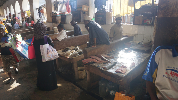 Zanzibar - stone town fish market