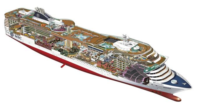 Marea Mediterana - MSC fantasia plan