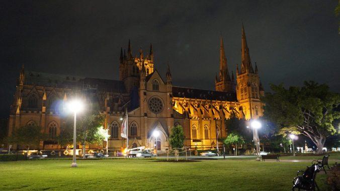 Sydney - St Mary by night