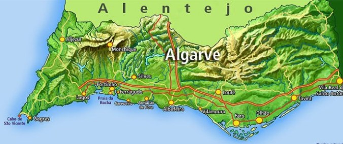 Algarve - map