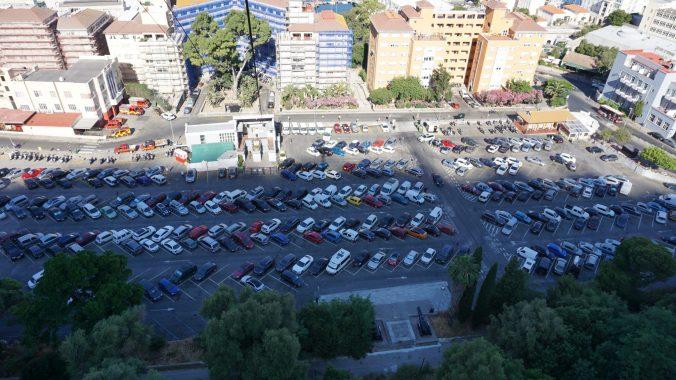 Gibraltar - cable car parking