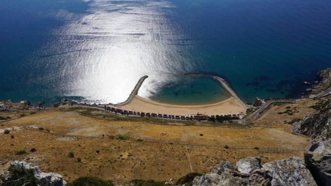 Gibraltar - the rock beach
