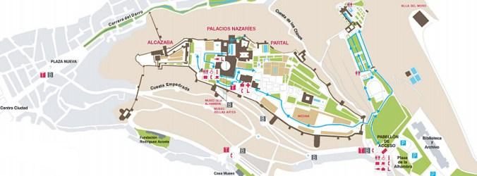 alhambra - map