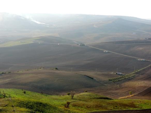 La vista dal terrazzo del castello - Monteserico