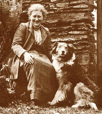 Beatrix Potter with Kep 1915