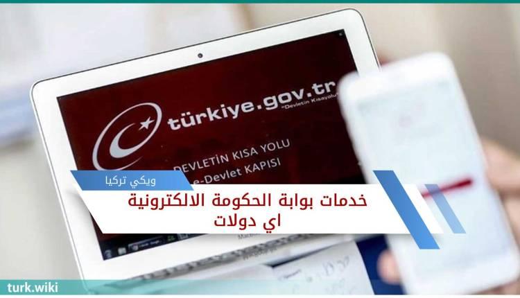 الخدمات اي دولات بالعربي e-devlet