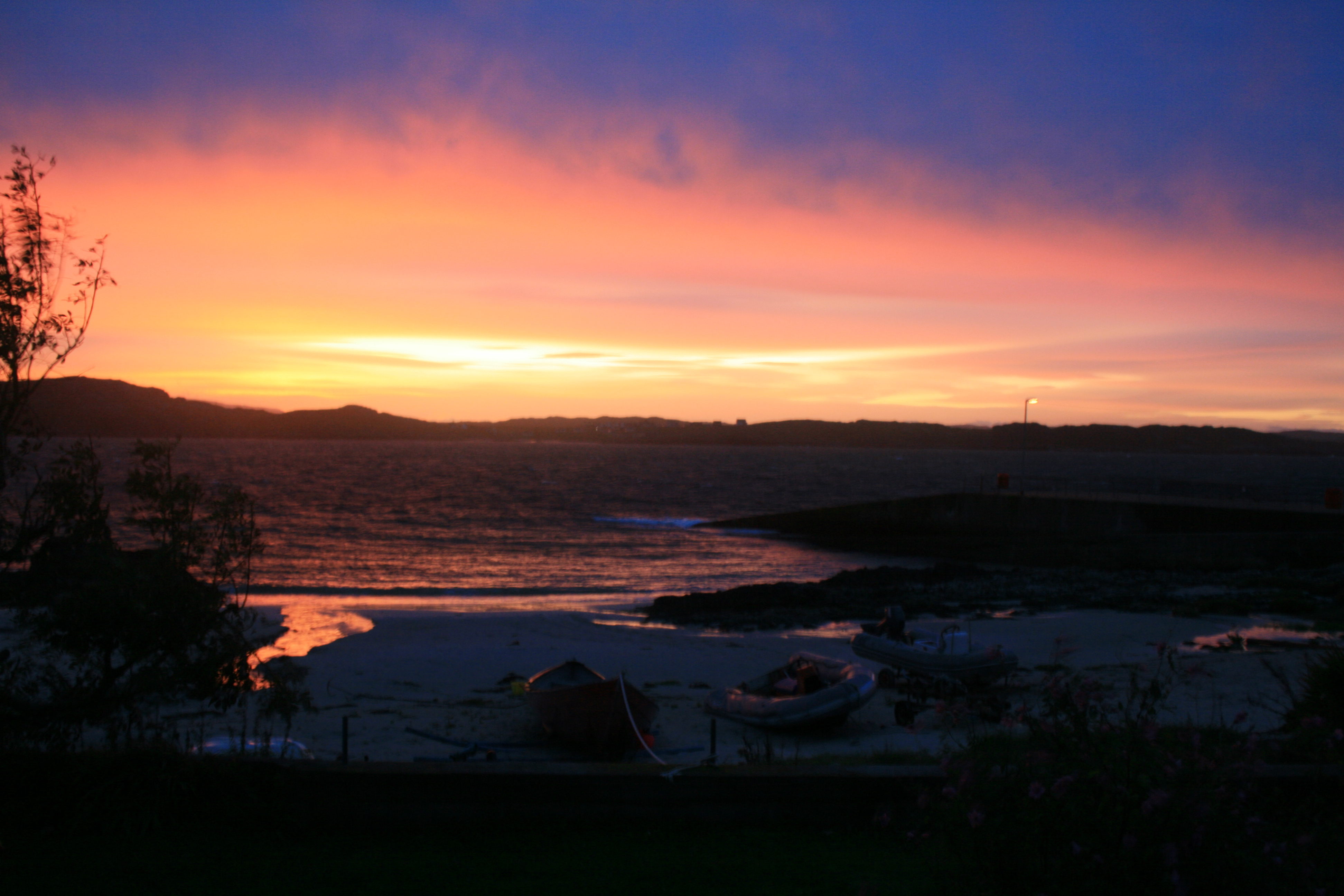 The view I enjoyed when I woke up.  That is Mull across the Sound of Iona.