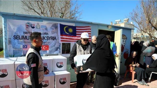 Photo of طلاب ماليزيون يقدمون مساعدات لعوائل سورية في تركيا