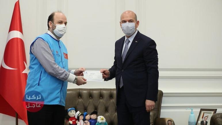 وزير الداخلية التركي يتبرع بـ 10 منازل لنازحين في إدلب