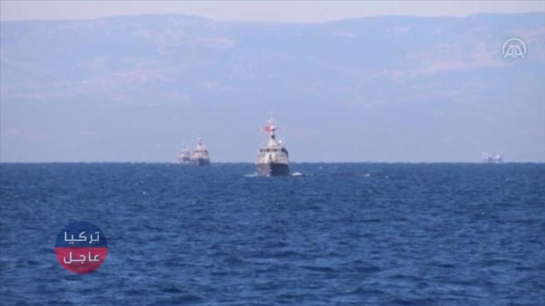 تدريبات بحرية للقوات التركية في مياه المتوسط