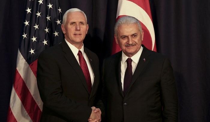 Binali Yildirim Mike pence Americans arrested in Turkey