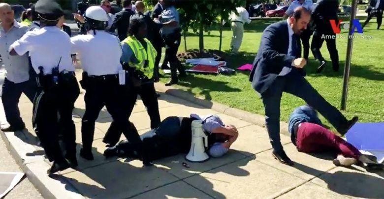 Erdogan, protesters, beating, DC, visit