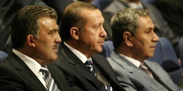 Erdogan, Gul, Arinc, split