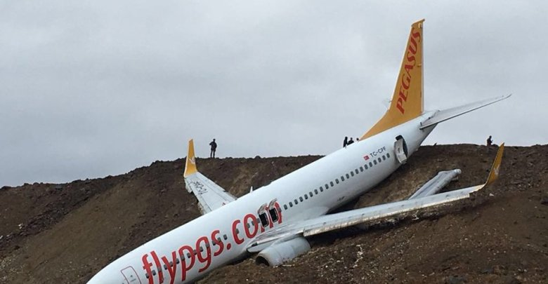 plane, edge, cliff, runway, Trabzon