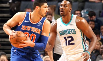 Enes Kanter during a basketball game