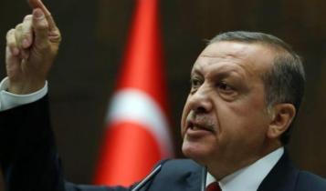 President Erdogan giving a speech