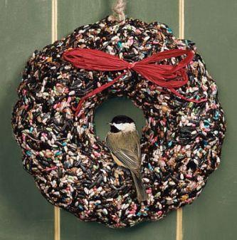 birdfeeder wreath