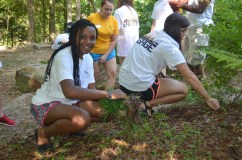 Birmingham-Southern College's ENGAGE progragam students help to keep TCNP beautiful