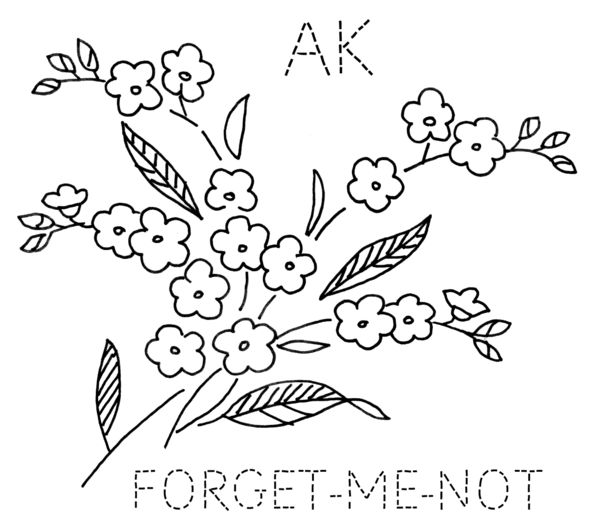turkey feathers: ALASKA: Forget-Me-Not