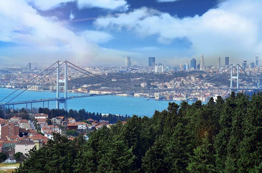 Cloud Greens Blue Sea Beautiful Turkey Istanbul