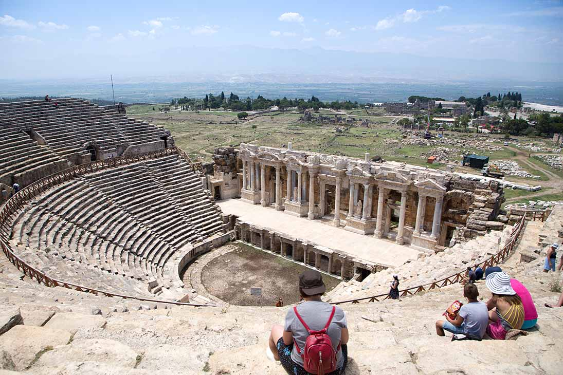Ancient city of Hierapolis, Pamukkale, Turkey.