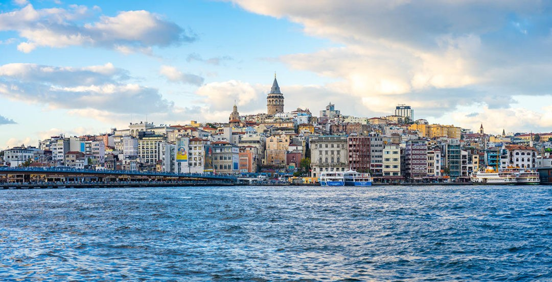 Galata Tower with ISTANBUL City