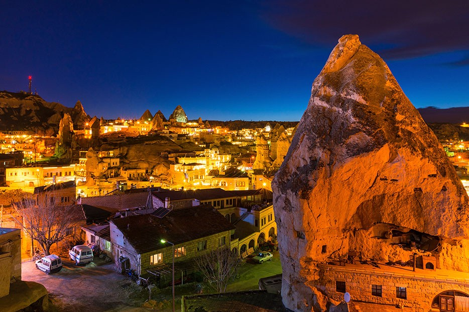 Goreme ancient city view