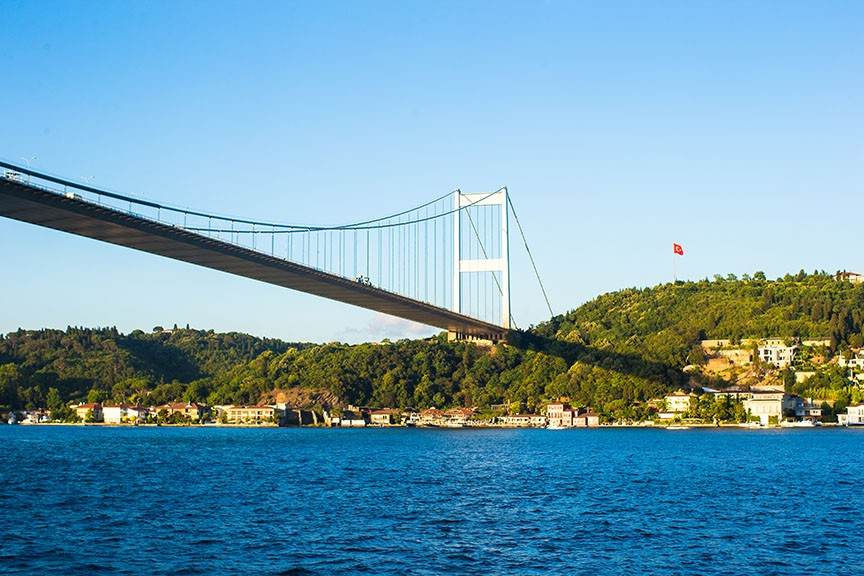 Fatih Sultan Mehmet Bridge over the Bosphorus