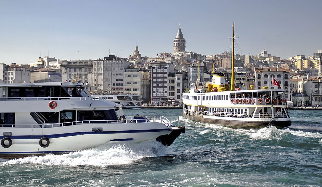 Transportation on Bosphorus in Istanbul