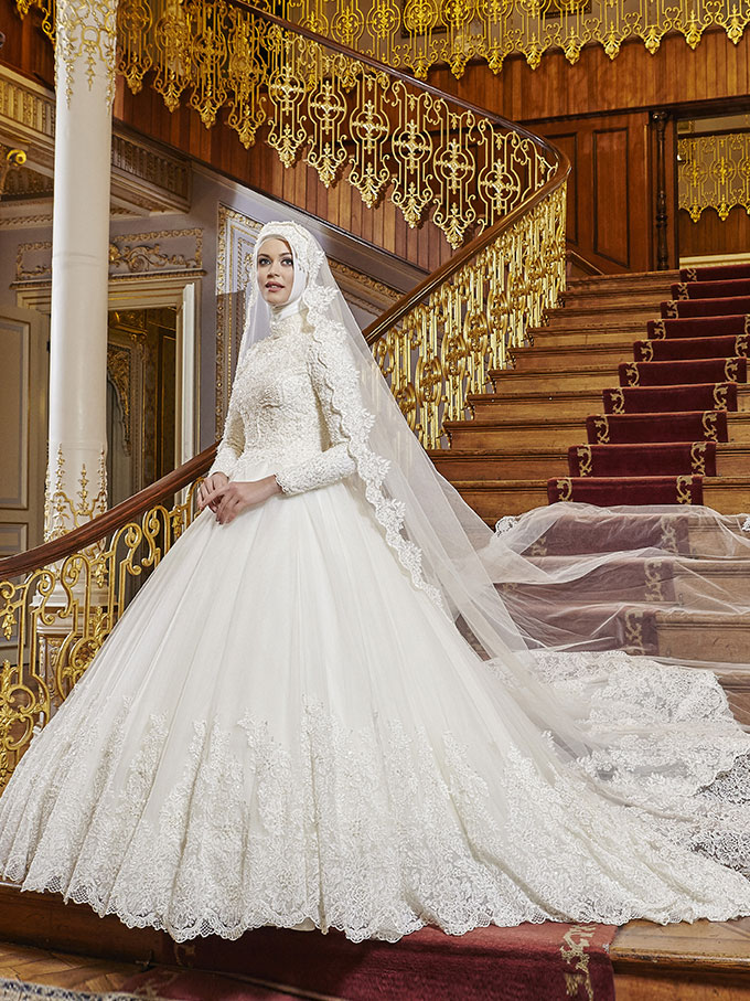 فساتين زفاف محجبات تركية