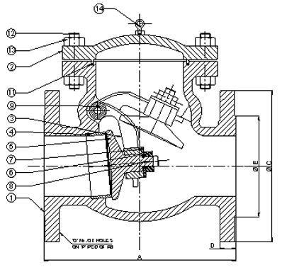 API6D Salınım Kontrol Vanası Cıvata Bağlantılı Kaput WC9