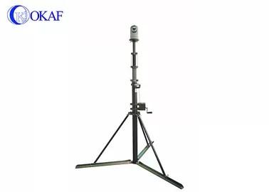 PTZ Kamera ile 5m Taşınabilir Teleskopik Direk Pole El