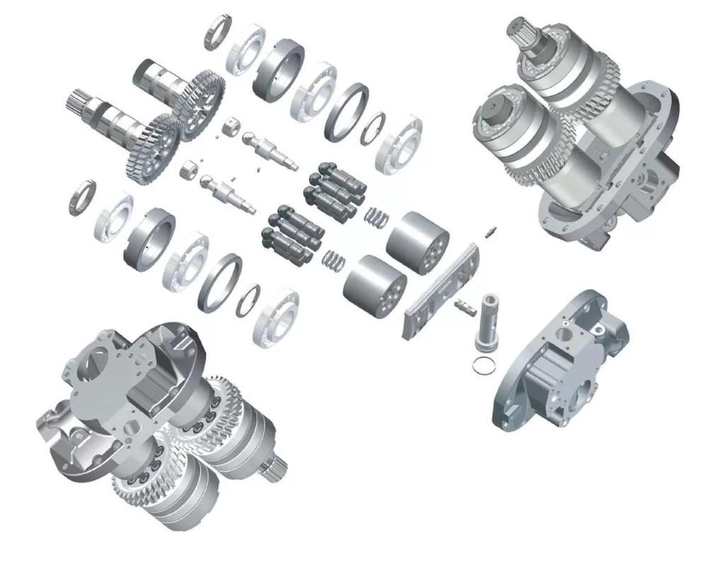 Hpv091 Hidrolik Hitachi Motor Parçaları Tamir Takımları