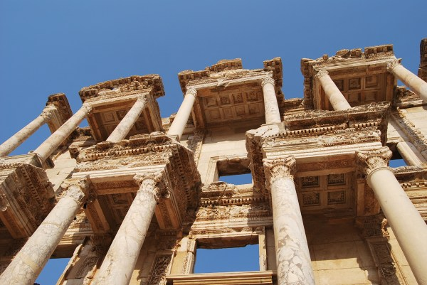 Library Of Celsus In Ephesus Turkish Archaeological