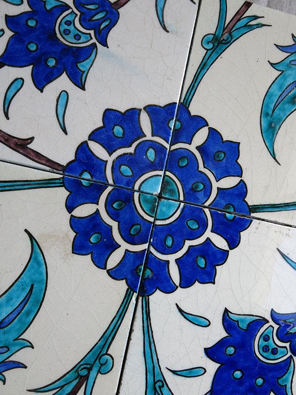 anatolian turkish kutahya antique ceramic tiles