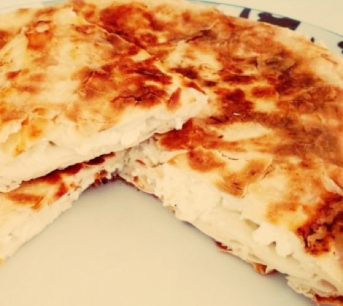 Borek with cheese in a pan - Peynirli Tava Boregi