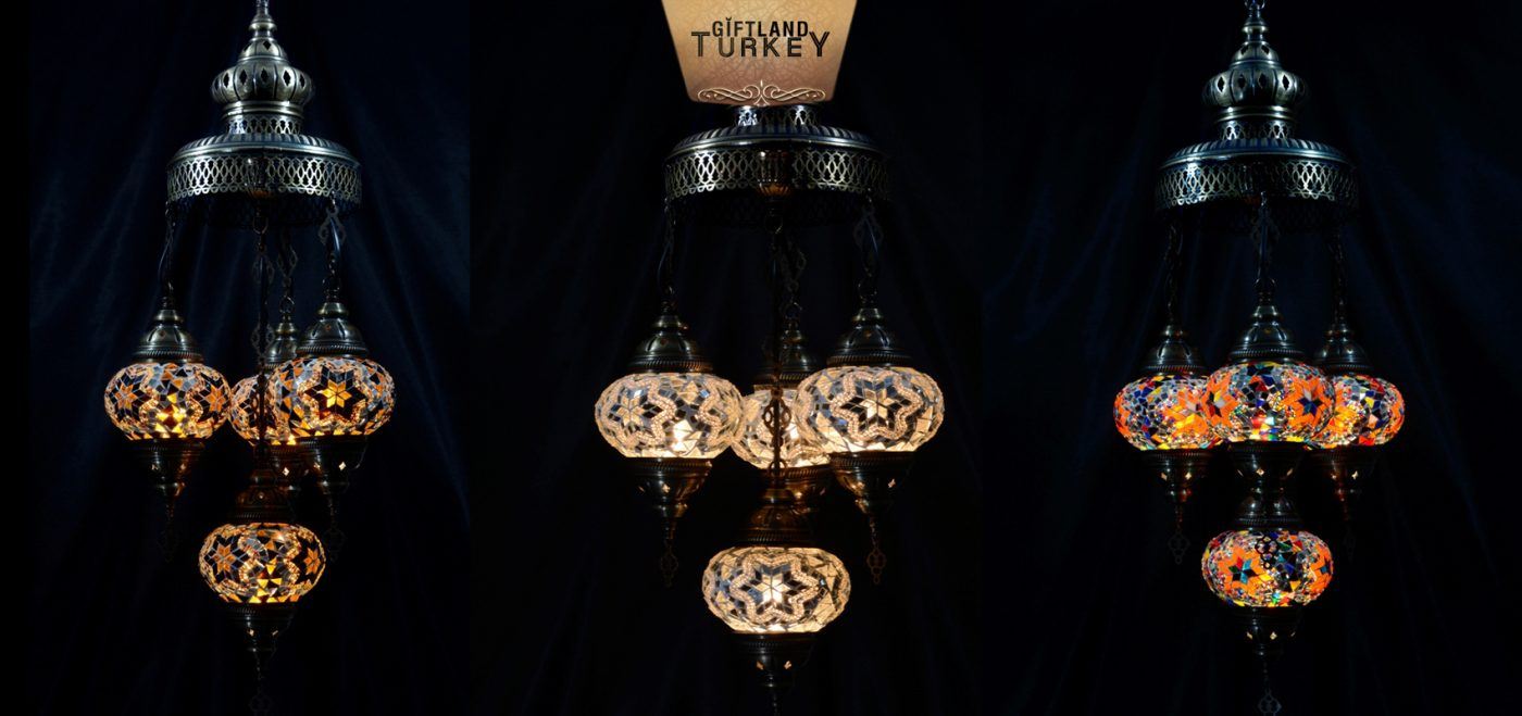 Dome Shaped Sultan Mosaic Lamp 4+1